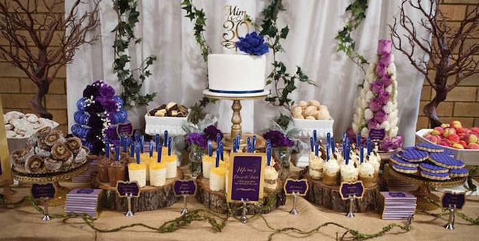 Rustic Glam 30th Birthday Dessert Table via Kara's Party Ideas | KarasPartyIdeas.com (1)