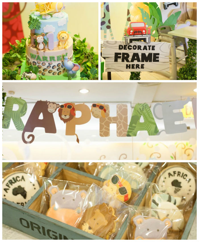 Kara 39 s party ideas animal safari birthday party via kara 39 s for Animal party decoration ideas