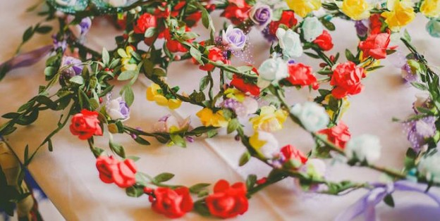 Floral Crowns from a Boho Boho Fiesta Birthday Party via Kara's Party Ideas KarasPartyIdeas.com (1)
