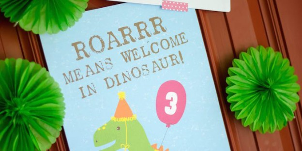 Dino-mite 3rd Birthday Bash via Kara's Party Ideas | Check out this and many other fun dinosaur themed parties today! KarasPartyIdeas.com (2)