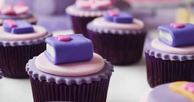 Cupcakes from a Doc McStuffins Birthday Party via Kara's Party Ideas KarasPartyIdeas.com (1)