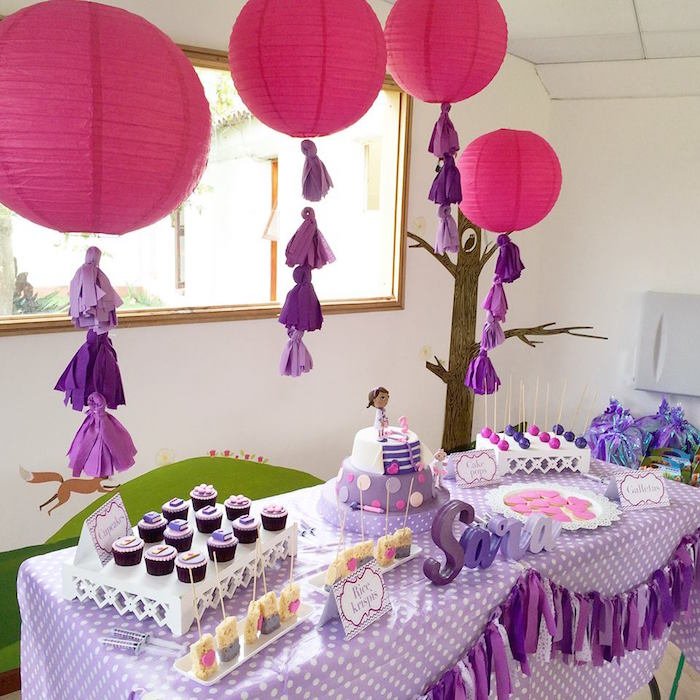 kara s party ideas dessert tablescape from a doc mcstuffins