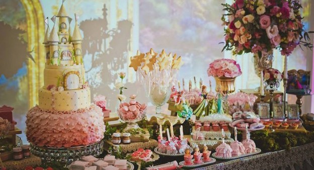 Elegant Princess Birthday Party via Kara's Party Ideas | Party ideas, supplies, decor, DIY's, printables, dessert and more! KarasPartyIdeas.com (3)