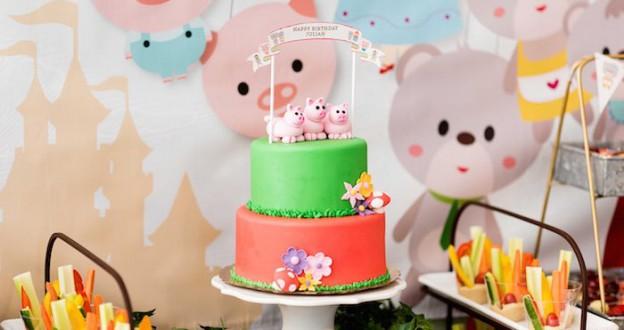 Cake from a Fairytale Puppet Birthday Party via Kara's Party Ideas | KarasPartyIdeas.com (2)