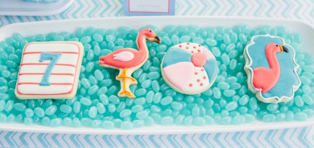 Cookies from a Flamingo Pool Party via Kara's Party Ideas KarasPartyIdeas.com (3)