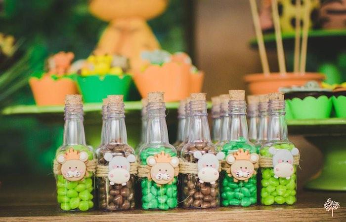 Kara's Party Ideas Favor bottles from a Jungle Safari ...