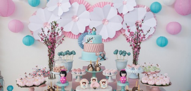 Kokeshi Doll Themed Birthday Party via Kara's Party Ideas | KarasPartyIdeas.com (3)