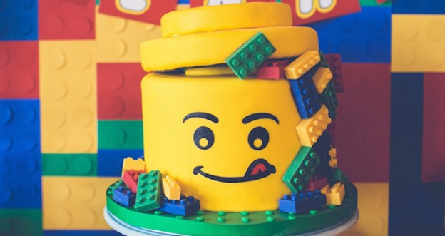 Lego Cake from a Lego Birthday Party via Kara's Party Ideas KarasPartyIdeas.com (1)