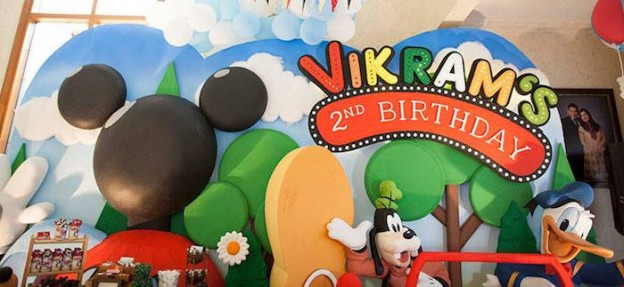 Backdrop from a Mickey Mouse Clubhouse Themed Birthday Party via Kara's Party Ideas | KarasPartyIdeas.com (3)