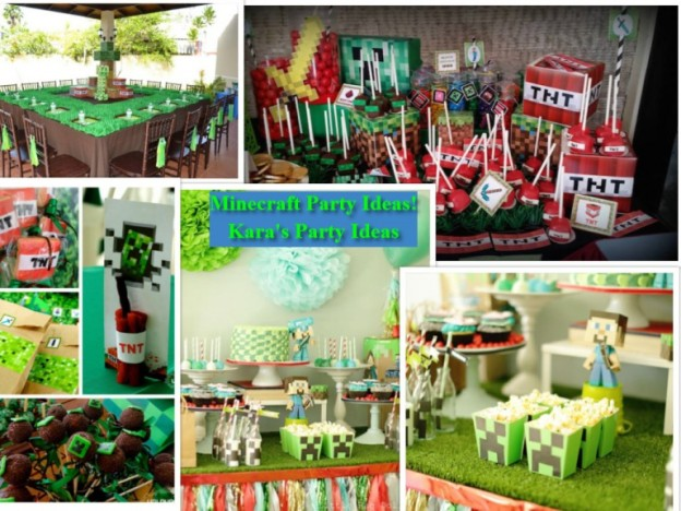 Minecraft Party Ideas via Kara's Party Ideas