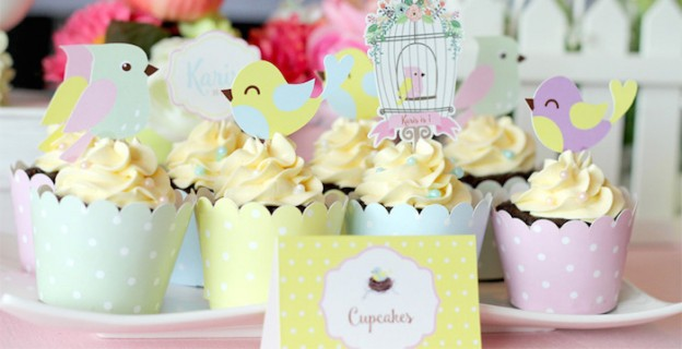 Pastel Little Bird Birthday Party via Kara's Party Ideas | KarasPartyIdeas.com (1)