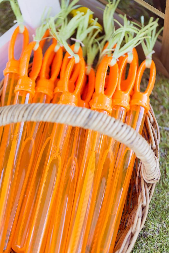 Kara S Party Ideas Carrot Bubble Wands From A Peter Rabbit