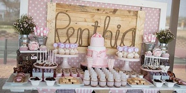 Dessert Table From A Pink Vintage Cowgirl Birthday Party Via Karas Ideas