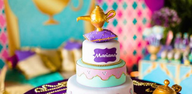 Cake from a Princess Jasmine Birthday Party via Kara's Party Ideas KarasPartyIdeas.com (1)
