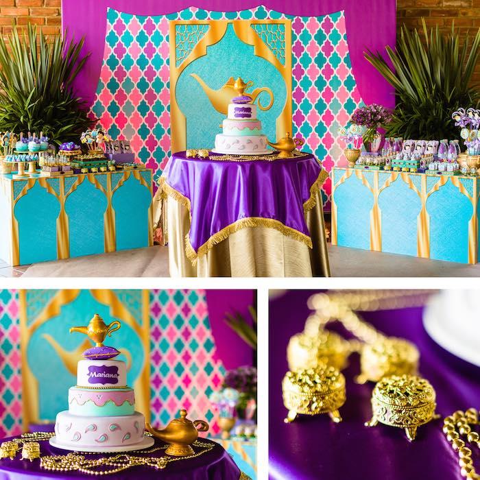 Kara's Party Ideas Cake + Cake Table From A Princess
