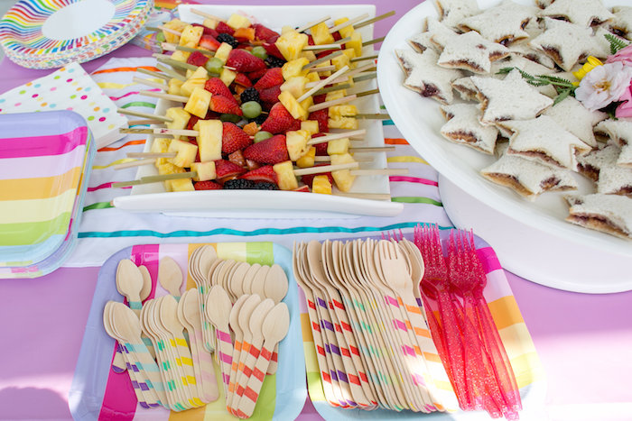 kara s party ideas food from a rainbow unicorn birthday