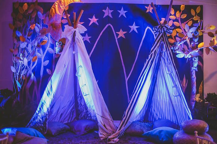 Kara S Party Ideas Quot Teepee S Under The Stars Quot From A