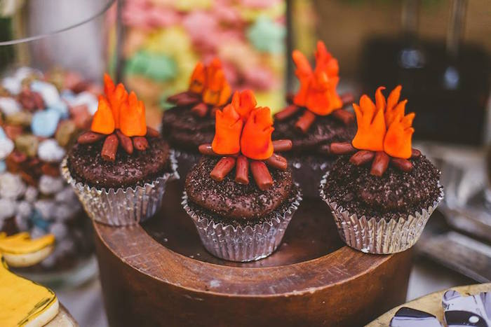 Kara's Party Ideas » Campfire Cupcakes from a Starry ...