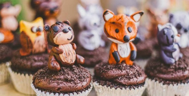 Woodland Animal Cupcakes from a Starry Nights & Campfires Themed Woodland Camping Birthday Party via Kara's Party Ideas KarasPartyIdeas.com (3)