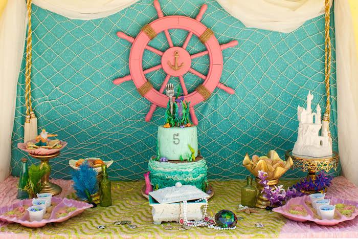 Kara S Party Ideas The Little Mermaid Themed Birthday