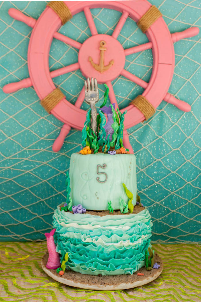 Karas Party Ideas The Little Mermaid Themed Birthday Party via
