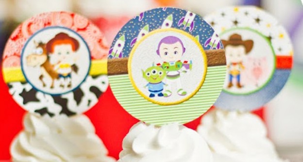 Cupcake Toppers from a Toy Story Birthday Party via Kara's Party Ideas | KarasPartyIdeas.com (2)
