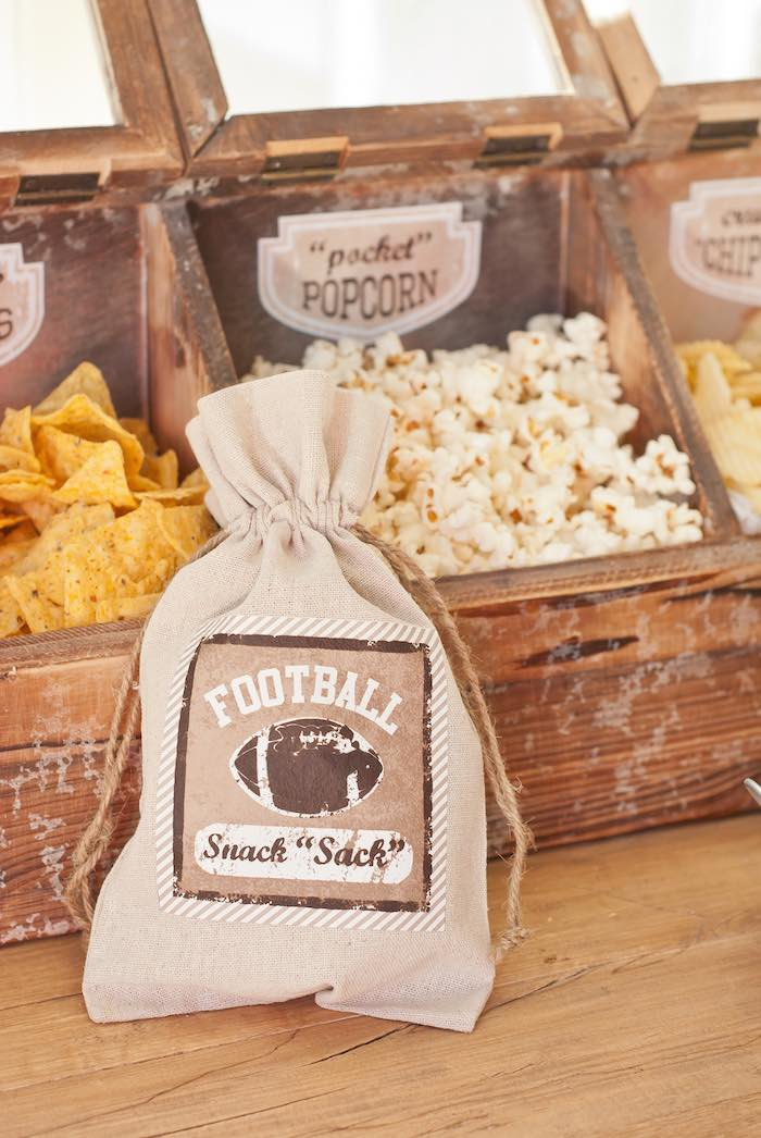 Vintage Snack Sacks from a Vintage Football Party via Kara's Party Ideas KarasPartyIdeas.com (15)