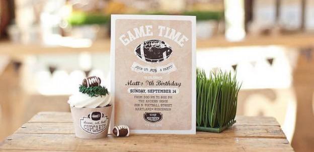 Invitation from a Vintage Football Party via Kara's Party Ideas KarasPartyIdeas.com (1)