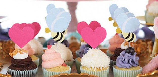 Cupcakes from a Winnie the Pooh's Garden Birthday Party via Kara's Party Ideas | KarasPartyIdeas.com