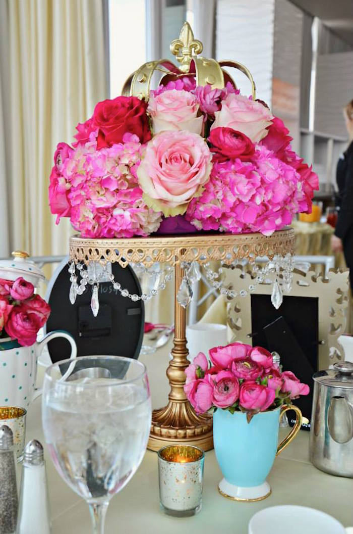 Kara s party ideas � floral table centerpiece at a