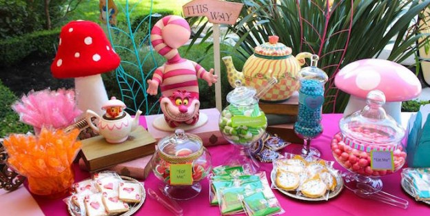 Sweet Table from an Alice in Wonderland Birthday Party via Kara's Party Ideas | KarasPartyIdeas.com (1)