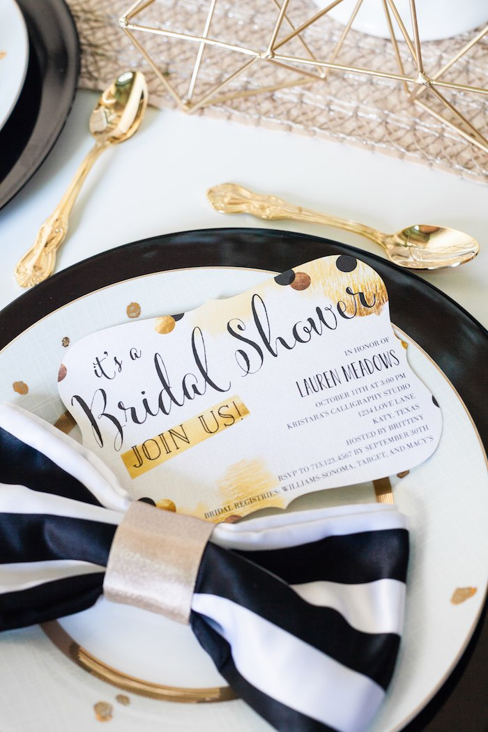 Black And White Bridal Shower Ideas Red Wedding