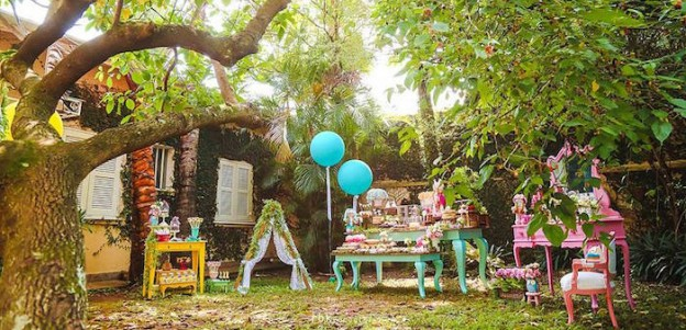Party Setup from a Boho Woodland Camping Party via Kara's Party Ideas! KarasPartyIdeas.com (1)