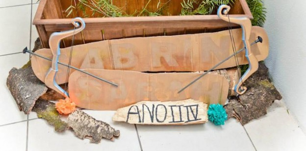 Bow & Arrow Decor Piece from a Brave Themed Birthday Party via Kara's Party Ideas KarasPartyIdeas.com (2)