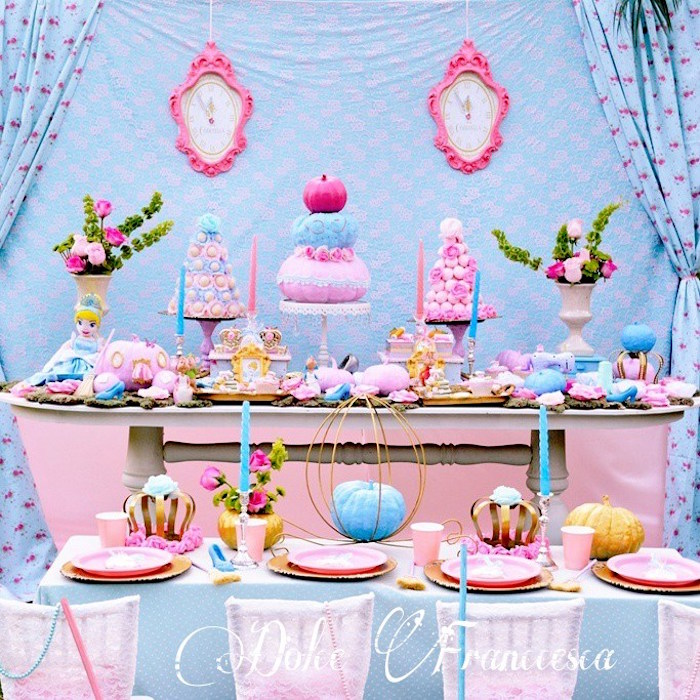 Karas Party Ideas Party Display from a Cinderella Birthday Party