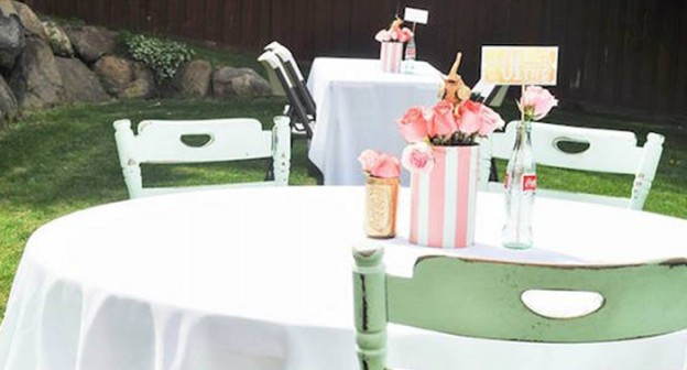 Guest Table from a Circus + Carnival Baby Shower via Kara's Party Ideas! KarasPartyIdeas.com (3)