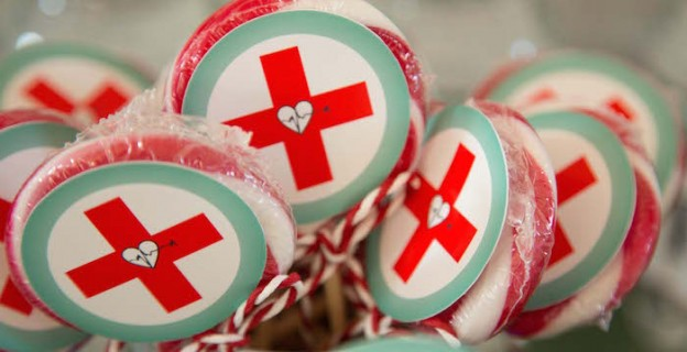 Lollipops from a Doctor Themed Birthday Party via Kara's Party Ideas | KarasPartyIdeas.com (4)
