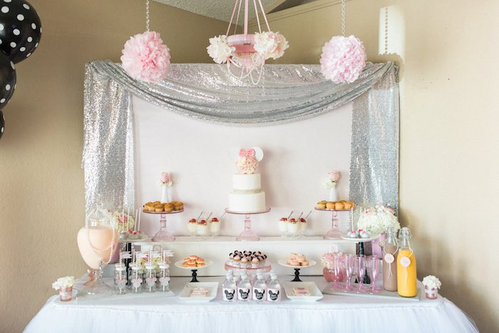 Sweet Table From An Elegant Minnie Mouse Boutique Birthday Party Via Karas Ideas KarasPartyIdeas
