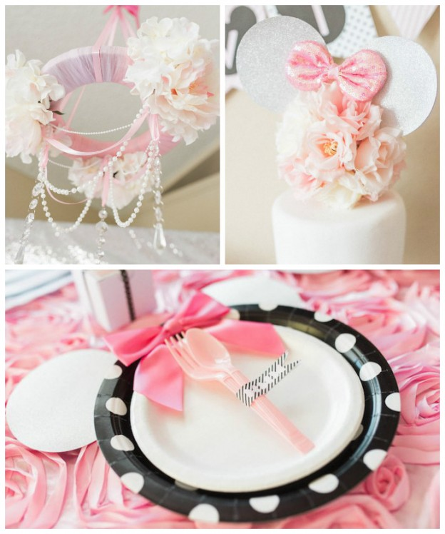 Elegant Minnie Mouse Boutique Birthday Party via Kara's Party Ideas! KarasPartyIdeas.com (3)