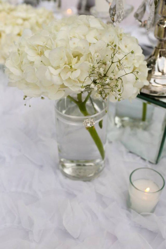 Dinner Party Ideas For 20 Part - 27: Floral Arrangement From An Elegant White Outdoor Dinner Party Via Karau0027s Party  Ideas | KarasPartyIdeas.