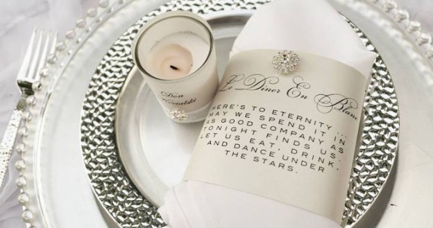 Place Setting from an Elegant White Outdoor Dinner Party via Kara's Party Ideas | KarasPartyIdeas.com (3)