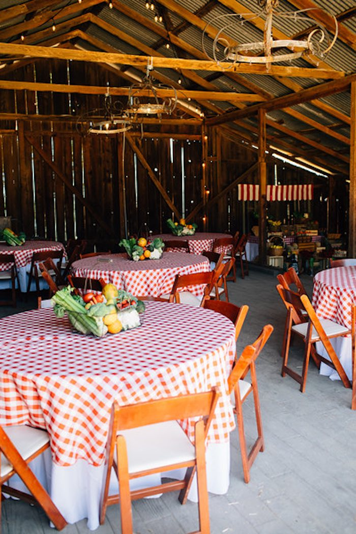 Kara S Party Ideas Guest Tables From A Farmers Market