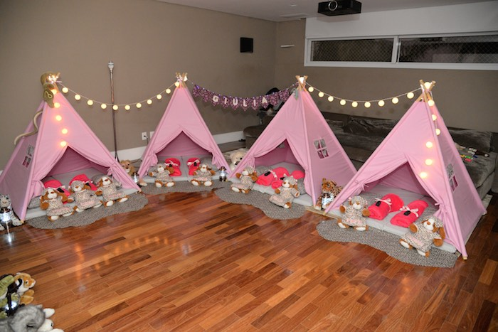 Kara S Party Ideas Tent Setup From A Girly Camping