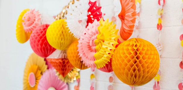 Honeycomb Decorations from a GGirly Glam Crafting Birthday Party via Kara's Party Ideas | KarasPartyIdeas.com (2)
