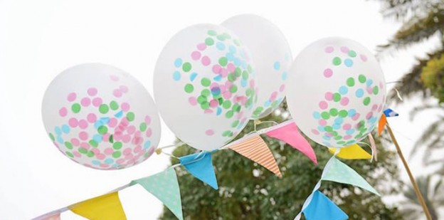 Balloons + Banner from a Girly Turtle Birthday Party via Kara's Party Ideas | KarasPartyIdeas.com (1)