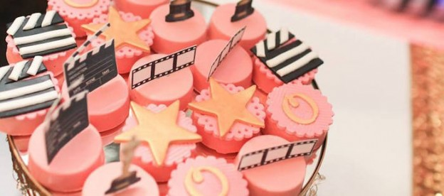 Chocolate Covered Oreos from a Glam Movie Star 10th Birthday Party via Kara's Party Ideas KarasPartyIdeas.com (1)