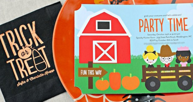 Invitation from a Halloween Hayride Costume Party via Kara's Party Ideas | KarasPartyIdeas.com (2)