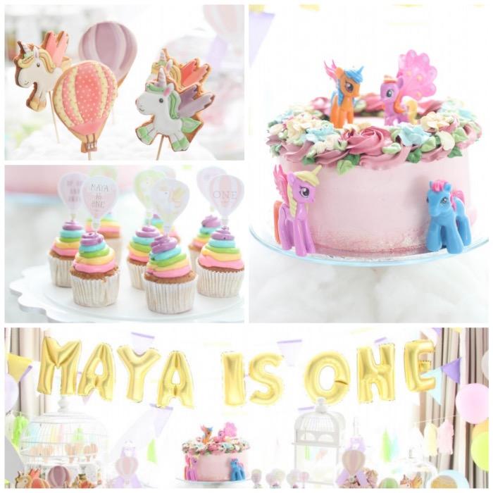Kara S Party Ideas Hot Air Balloon Unicorn Birthday