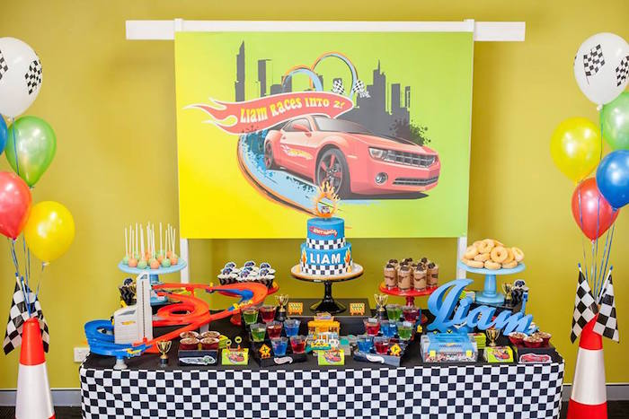 Dessert Table From A Hot Wheels + Car Birthday Party Via Karau0027s Party Ideas  | KarasPartyIdeas