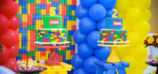 Cakes from a Lego Birthday Party via Kara's Party Ideas | KarasPartyIdeas.com (1)